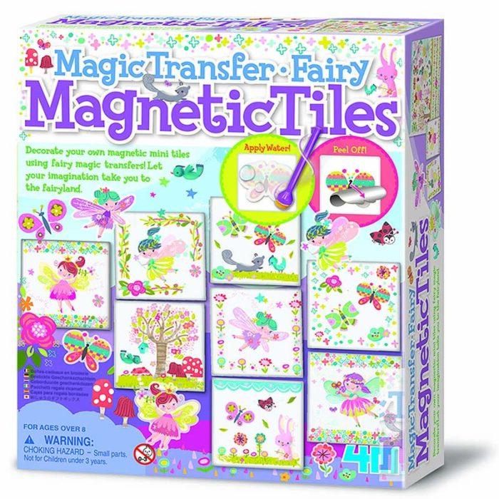 Образователен комплект Magnetic Tiles 4M Магнити с вълшебни стикери кутия