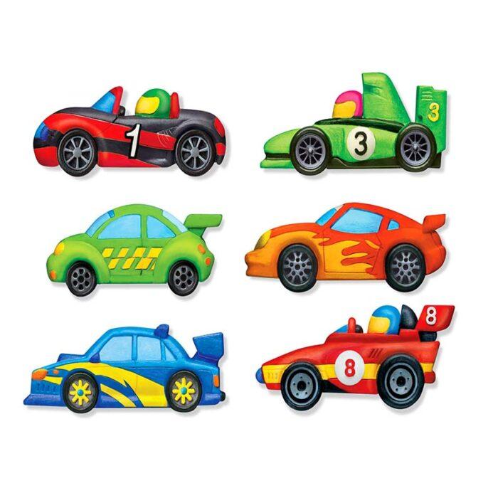 Образователен комплект Mould and Piant Racers 4M Нарисувай и оцвети състезатели