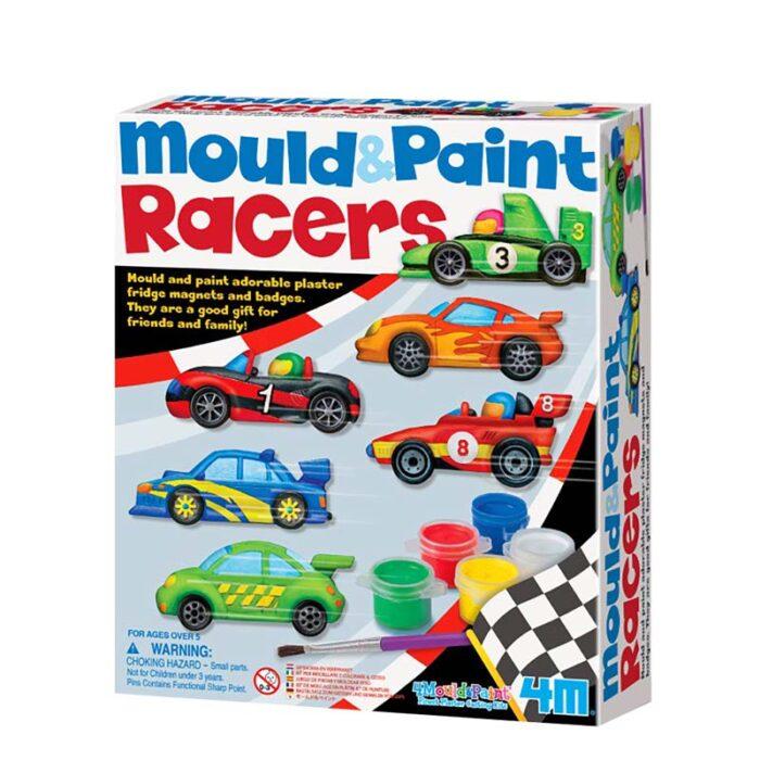 Образователен комплект Mould and Piant Racers 4M Нарисувай и оцвети състезатели кутия