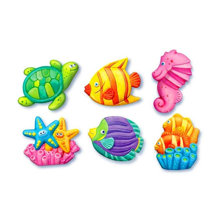 Образователен комплект Mould and Piant Sea life 4M Нарисувай и оцвети морски свят