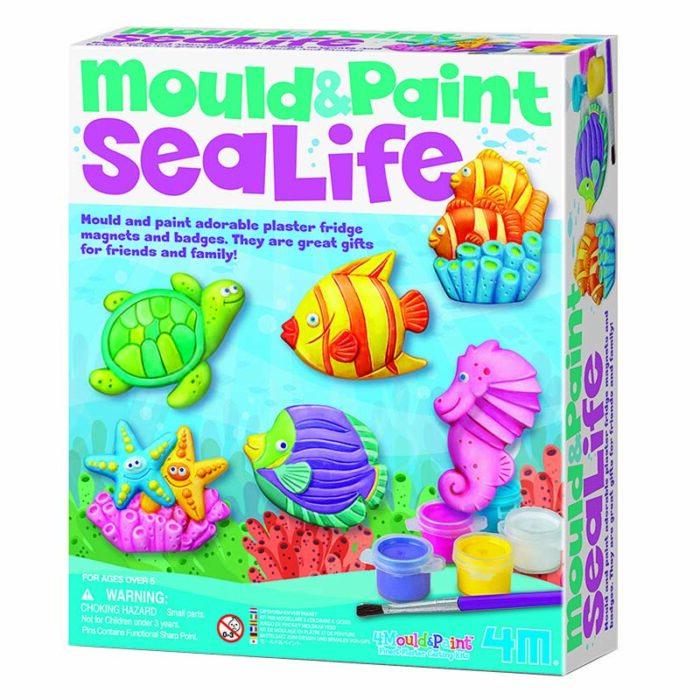 Образователен комплект Mould and Piant Sea life 4M Нарисувай и оцвети морски свят кутия