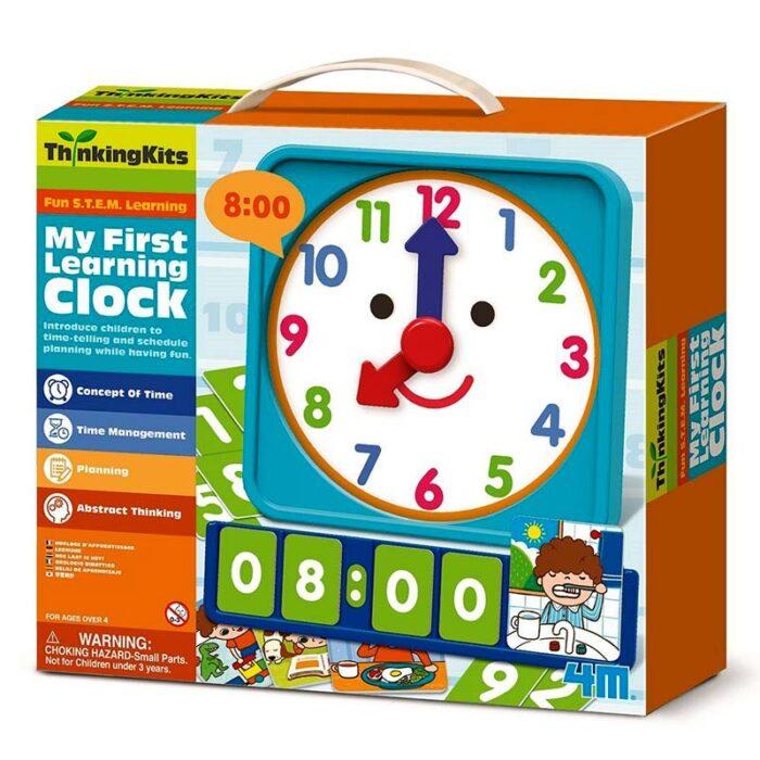 Образователен комплект My First Learning Clock 4M Уча часа кутия