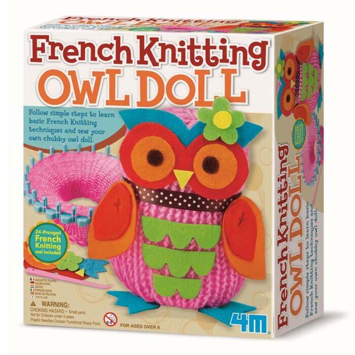 Образователен комплект Owl Doll 4M Оплети си бухалче кутия