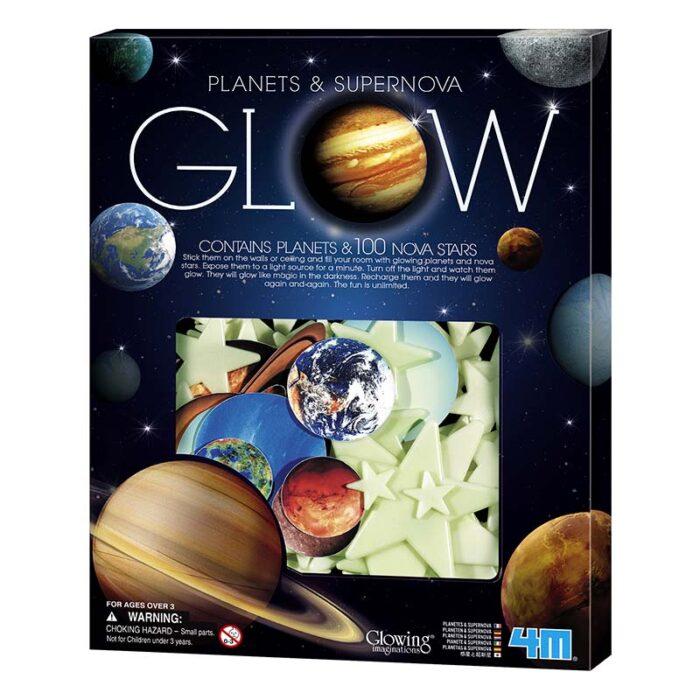 Образователен комплект Planets and Supernova Glow 4M Супернова Планети и блестящи звезди кутия