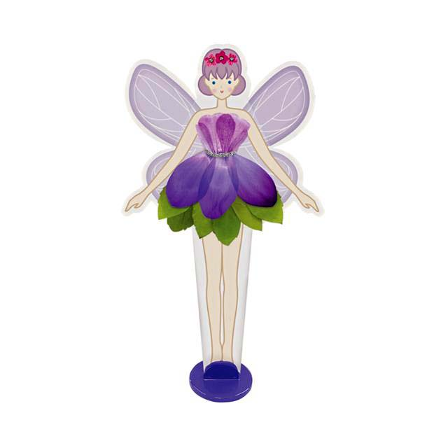 Образователен комплект Pressed Flower Fairy 4M Цветя и феи лилава