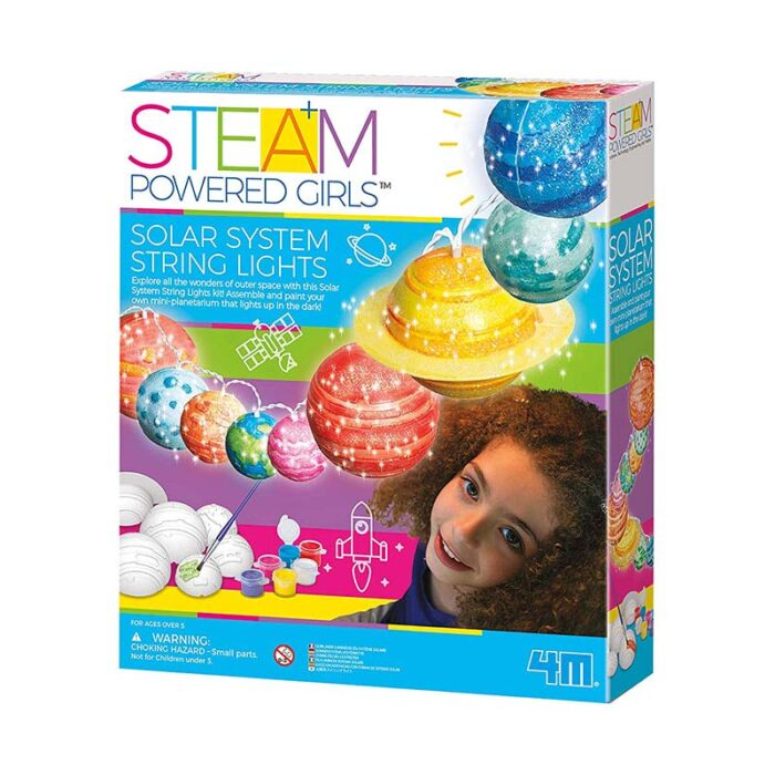 Образователен комплект Steam Powered Girls Solar System String light 4M Соларна система кутия