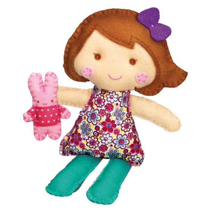 Образователен комплект Stich a Doll and pet Bunny 4M Ушии кукла със зайче