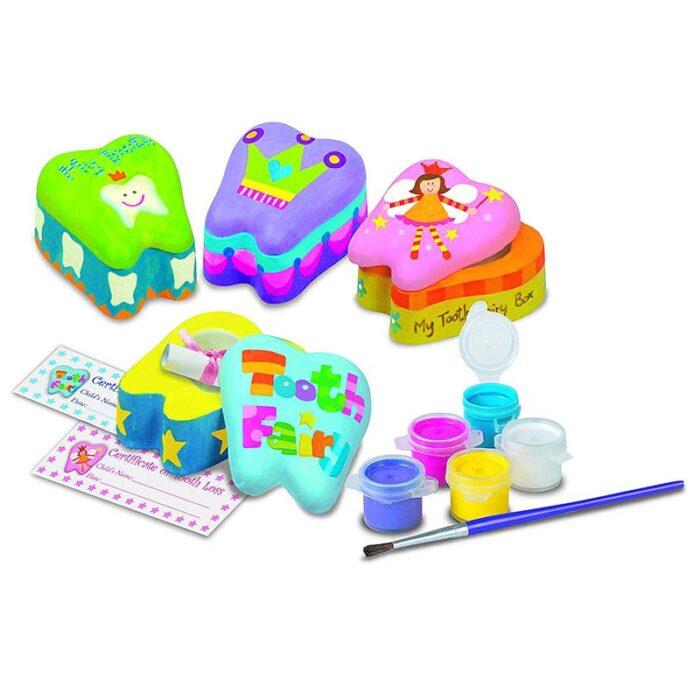 Образователен комплект Tooth Fairy 4M Кутия за спомен първо зъбче