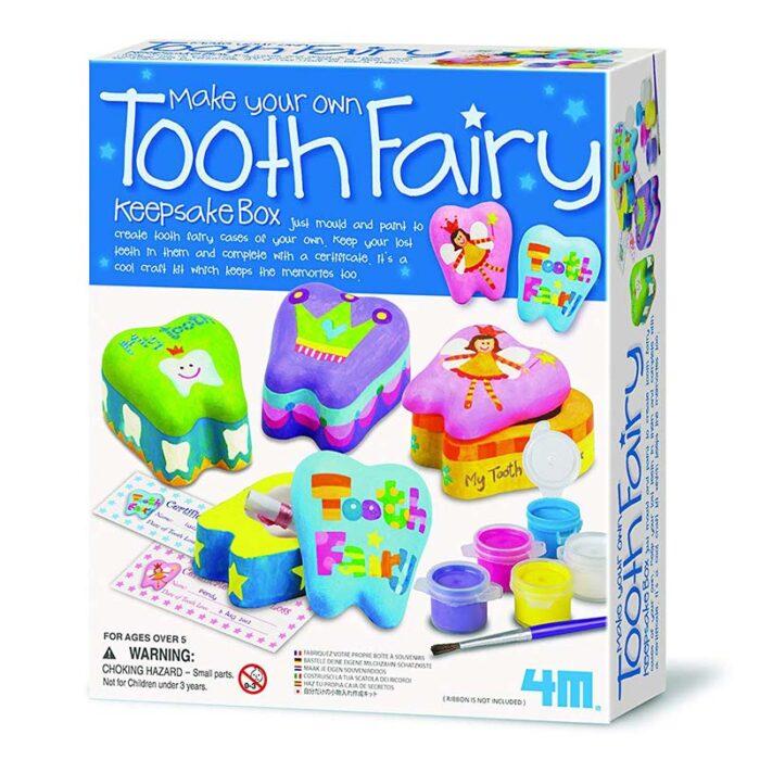 Образователен комплект Tooth Fairy 4M Кутия за спомен първо зъбче кутия
