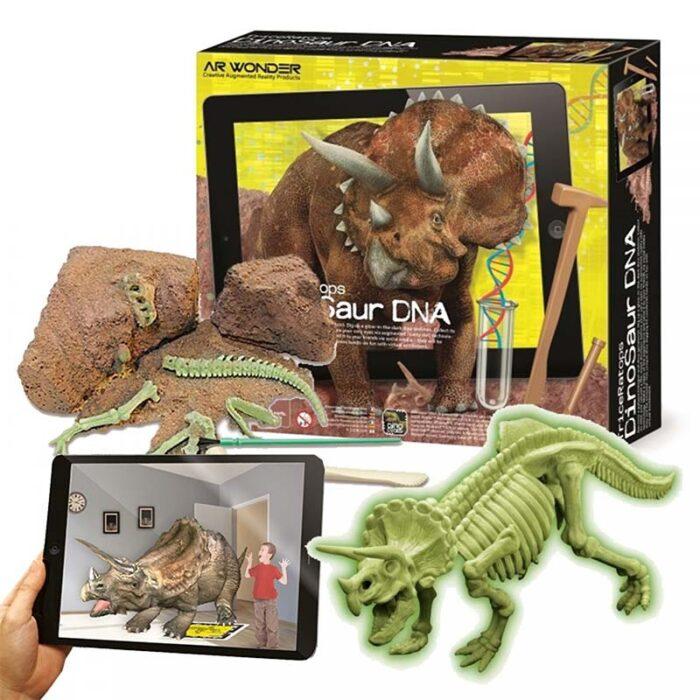 Образователен комплект Triceratops Dinosaur DNA ДНК на динозавърТрицератопс кутия