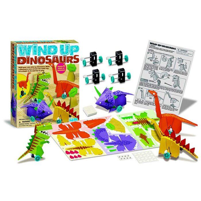 Образователен комплект Wind Up Dinosaurs 4M Динозаври с навиващ мехнизъм