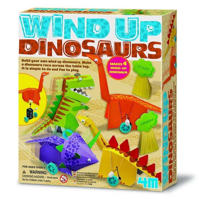 Образователен комплект Wind Up Dinosaurs 4M Динозаври с навиващ мехнизъм кутия