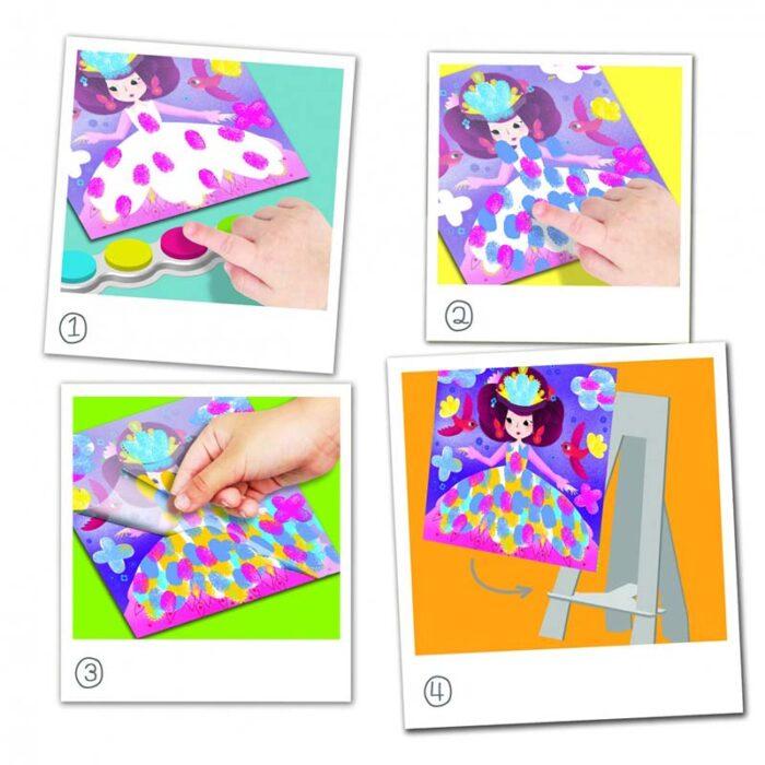 Образователен комплект Рисуване с пръсти Фантастичен свят Crealign инструкции