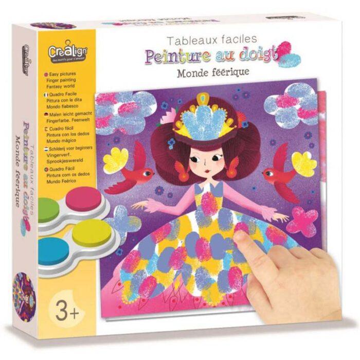 Образователен комплект Рисуване с пръсти Фантастичен свят Crealign кутия