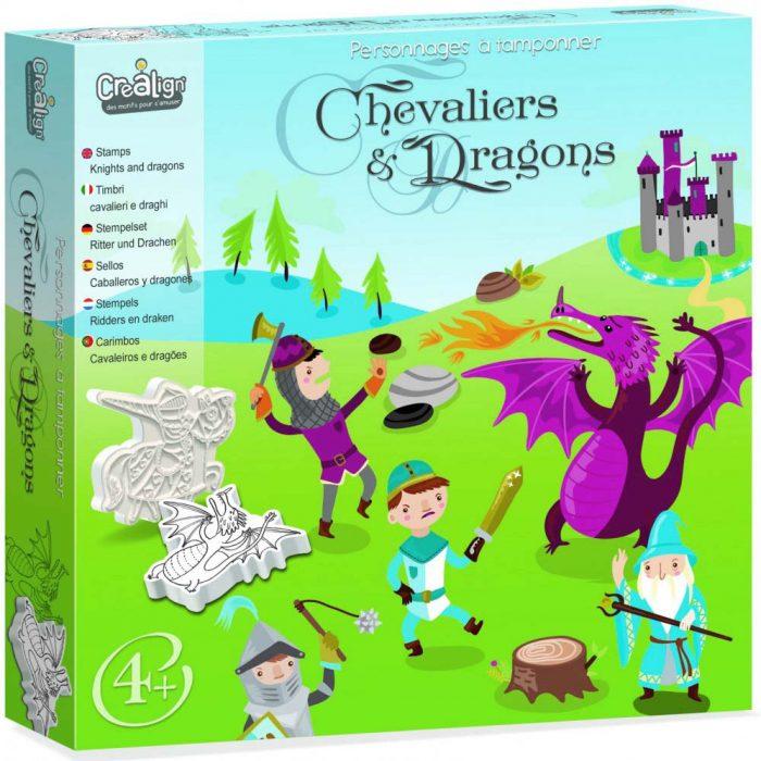 Образователен комплект Рицари и дракони Crealign кутия лице