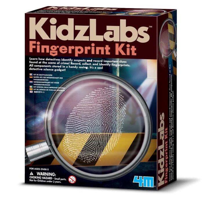 Образователне комплект Kidz Lab Fingerprint Kit 4M кутия Пръстови отпечатъци
