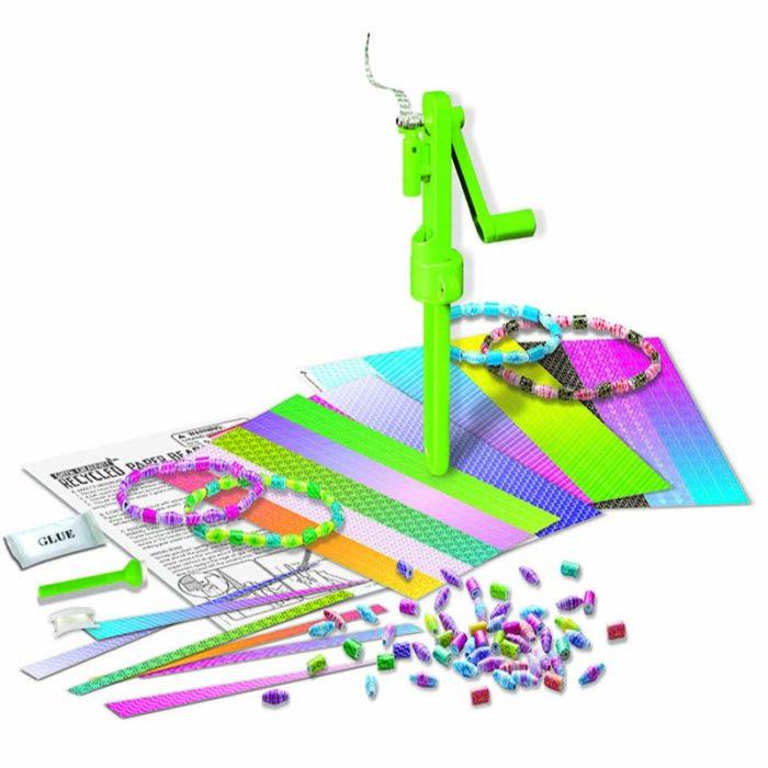 Образоватерен комплект Recycled Paper Beads Маниста от хартия кутия и шаблони