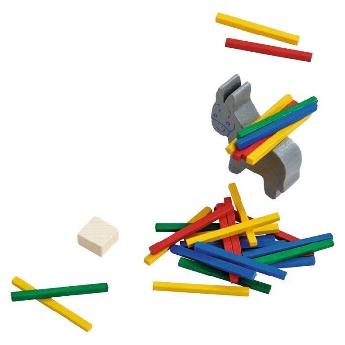 Образователна игра Камара цветни пръчици и балансиращо магаре HABA