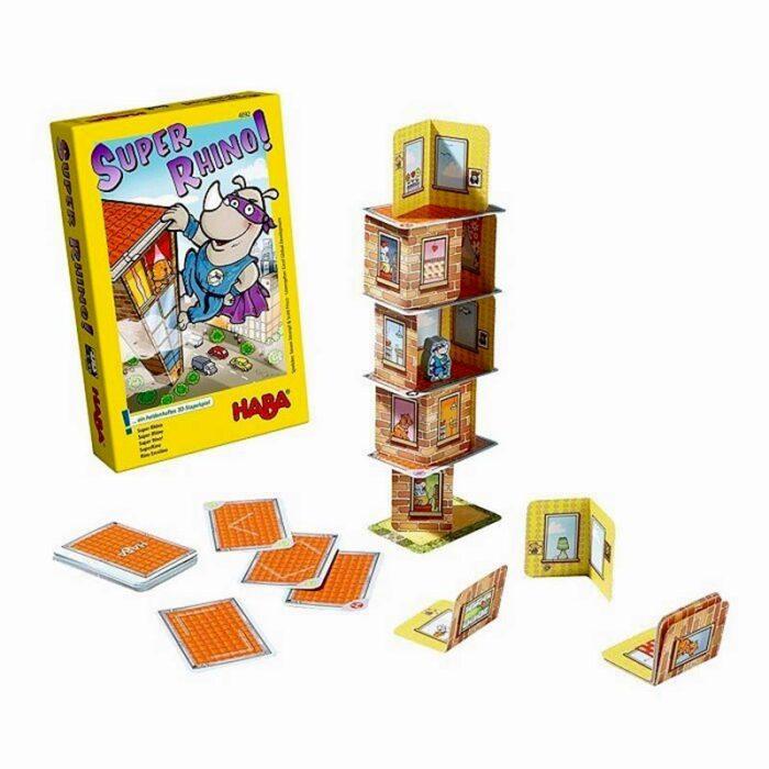 Образователна игра Носорог герой кула от картонени шаблони HABA