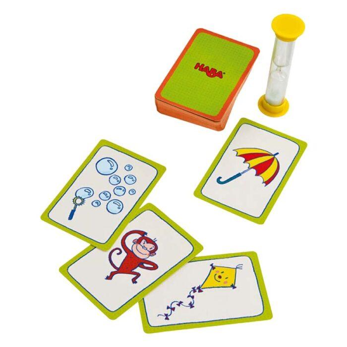 Образователна игра Пантонима карти и пясъчен часовник Пантонима HABA