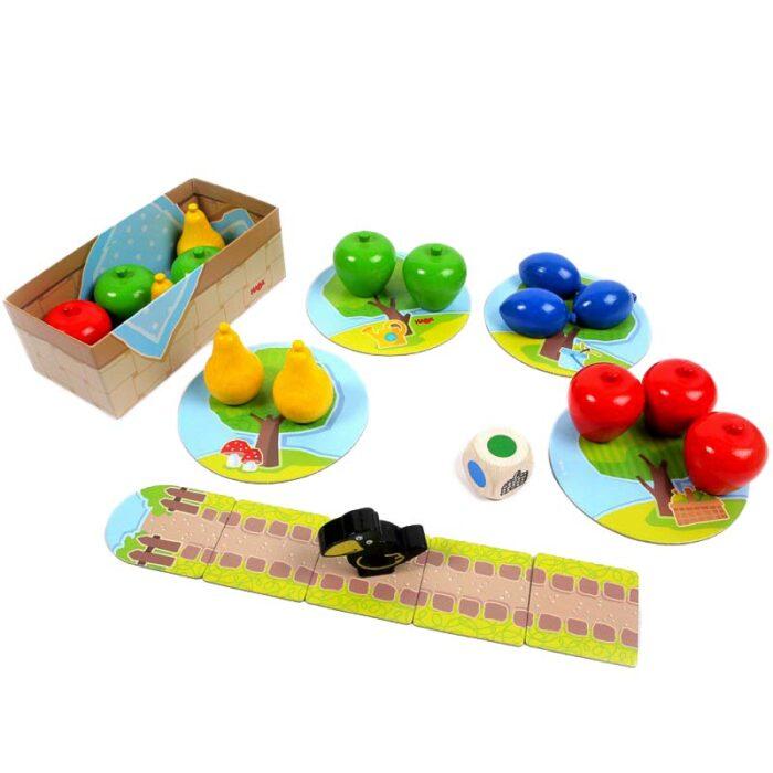 Образователна игра Първа овощна градина плодове кошница игрално поле HABA