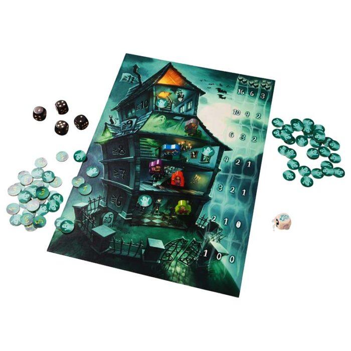 Образователна игра Призраци игрално поле зарове фигури и призраци HABA