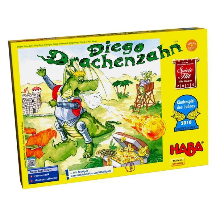 Образователна игра Съзтезанието на дракона Диего кутия лице HABA