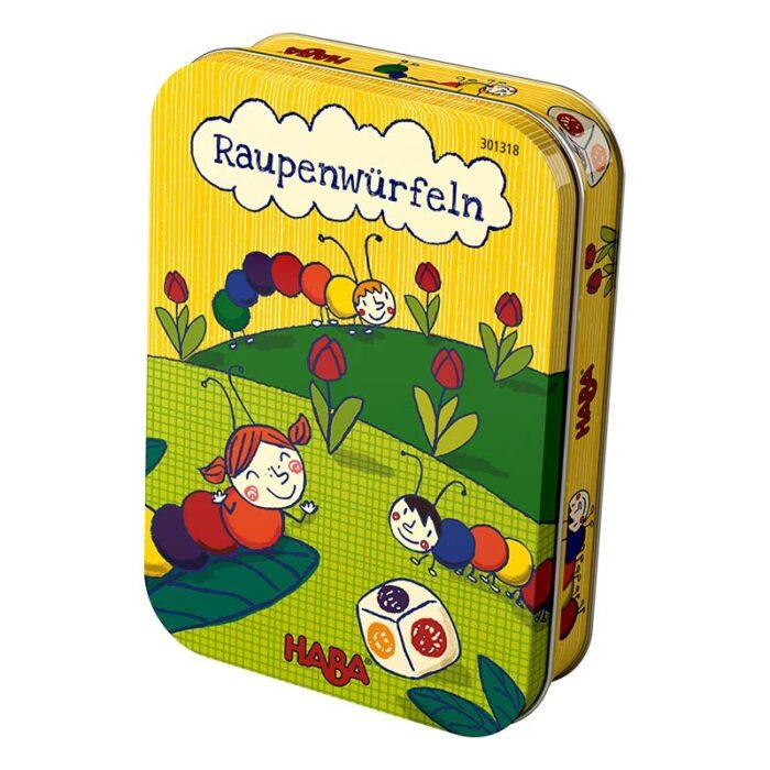 Образователна игра Сглоби гъсеница кутия HABA