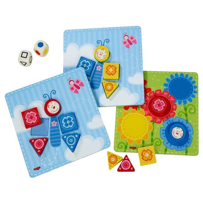 Образователна игра Цветове и форми форми и цветове в шаблони HABA