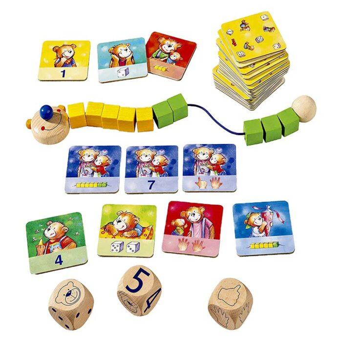 Образователна игра Умното мече карти зарове и сметало кутия HABA