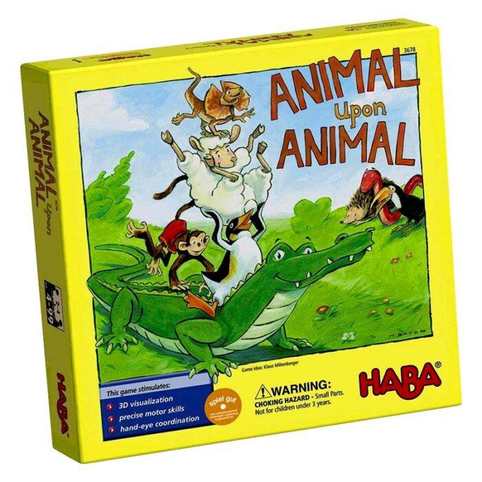 Образователна игра Животно върху животно-Джунгла кутия лице HABA