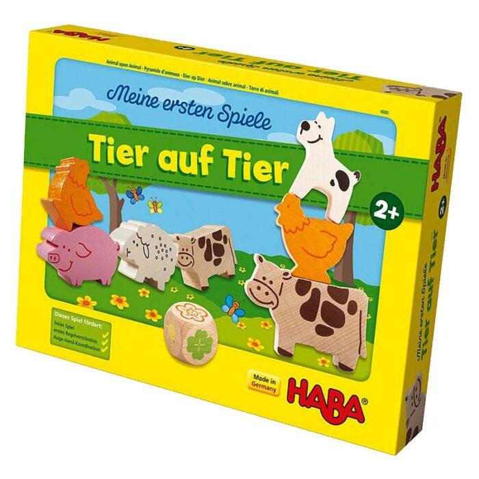 Образователна игра Животно върху животно кутия лице HABA