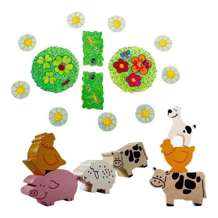 Образователна игра Животно върху животно животни и слънца HABA