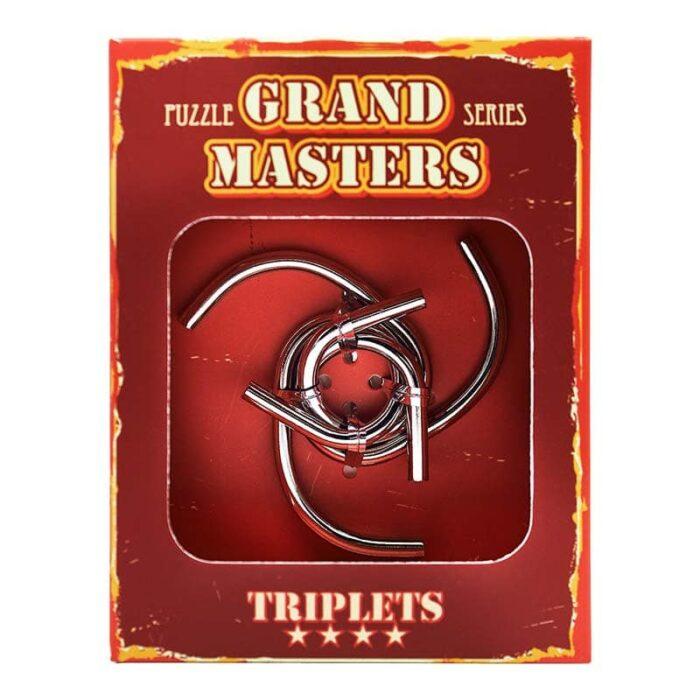 Метален пъзел Grand Master червена кутия лице