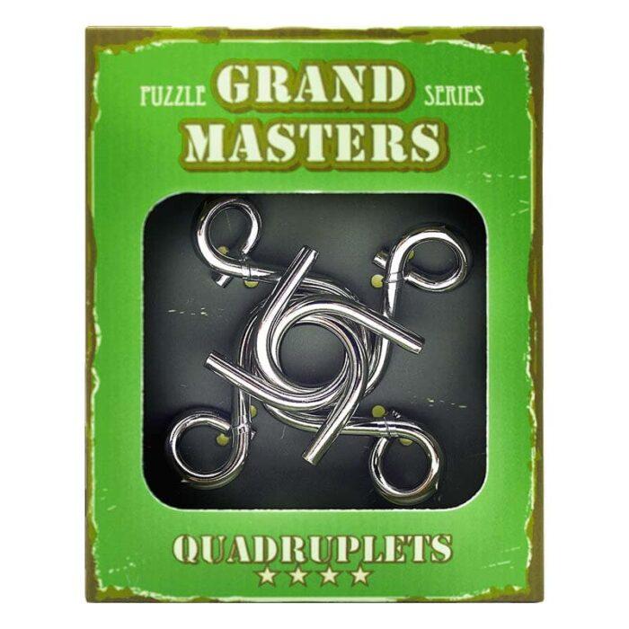 Метален пъзел Grand Master зелен кутия лице