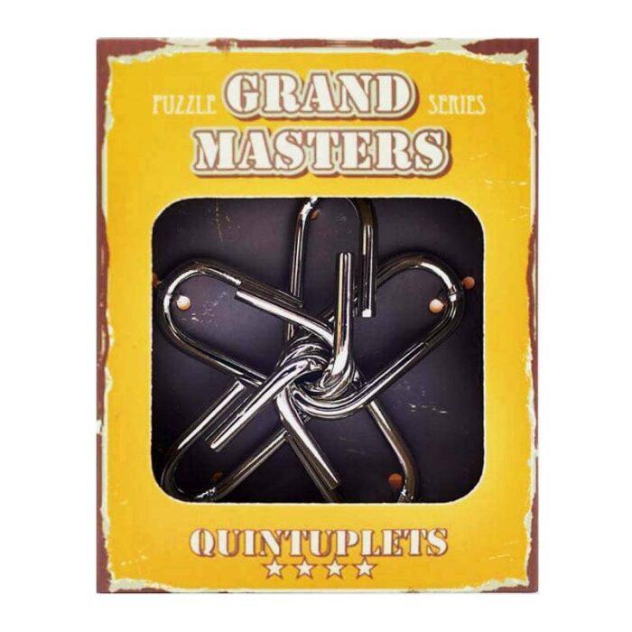 Метален пъзел Grand Master Жълт кутия лице