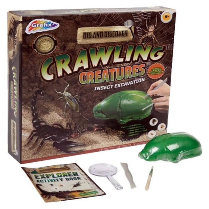 Образователна игра Grafix Пълзящи създания Изкопай насекоми кутия