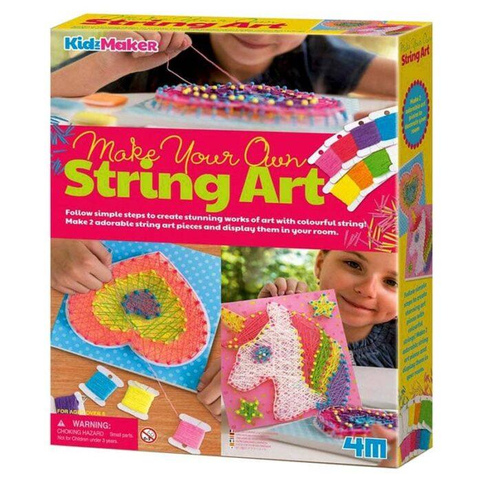 Творческа игра 4M Стринг арт-Сърце и еднорог кутия