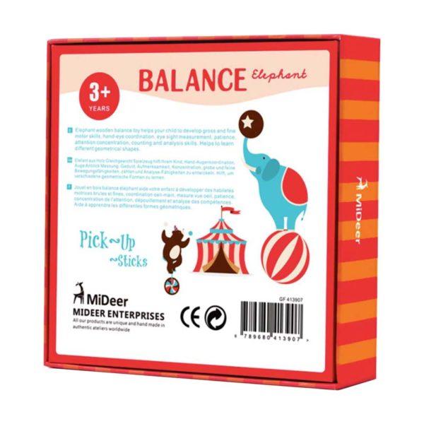 Игра за баланс Балансиращ слон кутия гръб