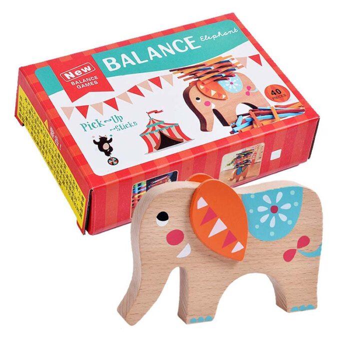 Игра за баланс Балансиращ слон кутия и слон