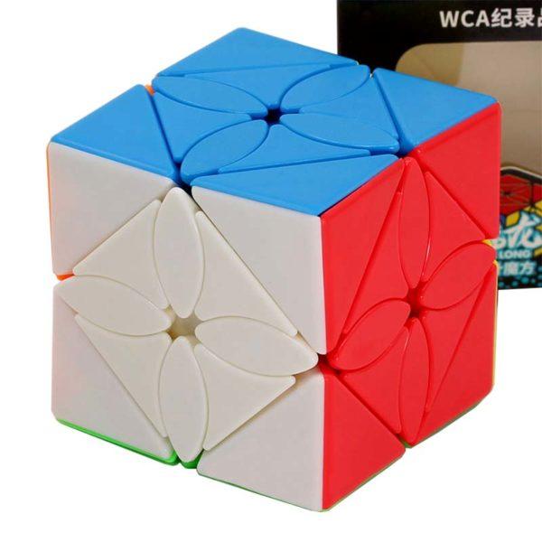 Рубик куб Maple leaf skewb кубче подредено