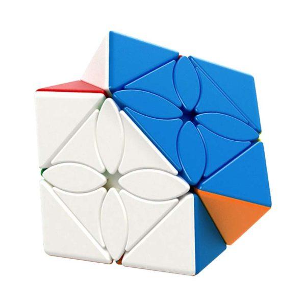 Рубик куб Maple leaf skewb кубче синя и бяла страна