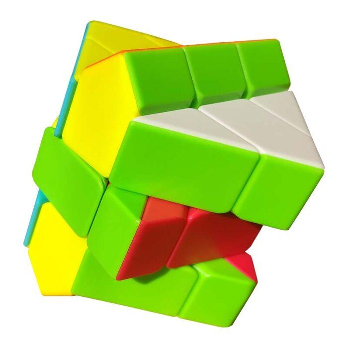 Рубик куб Windmill QiYi Stickerless разбъркан