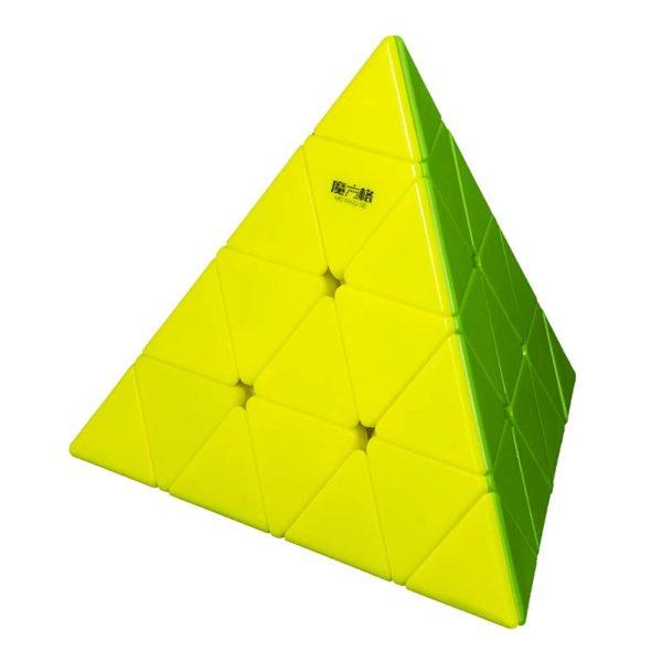 Рубик пирамида Master Pyraminx жълта и зелена страна