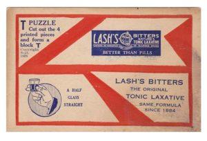 Първа версия на T-пъзел Lash's Bitter T-puzzle