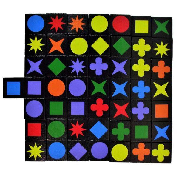 Настолна игра Qwirkle плочки