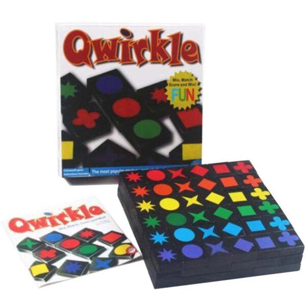 Настолна игра Qwirkle елементи упътване кутия