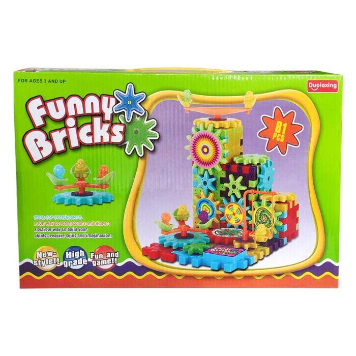 Конструктор със зъбни колела - Funny Bricks кутия