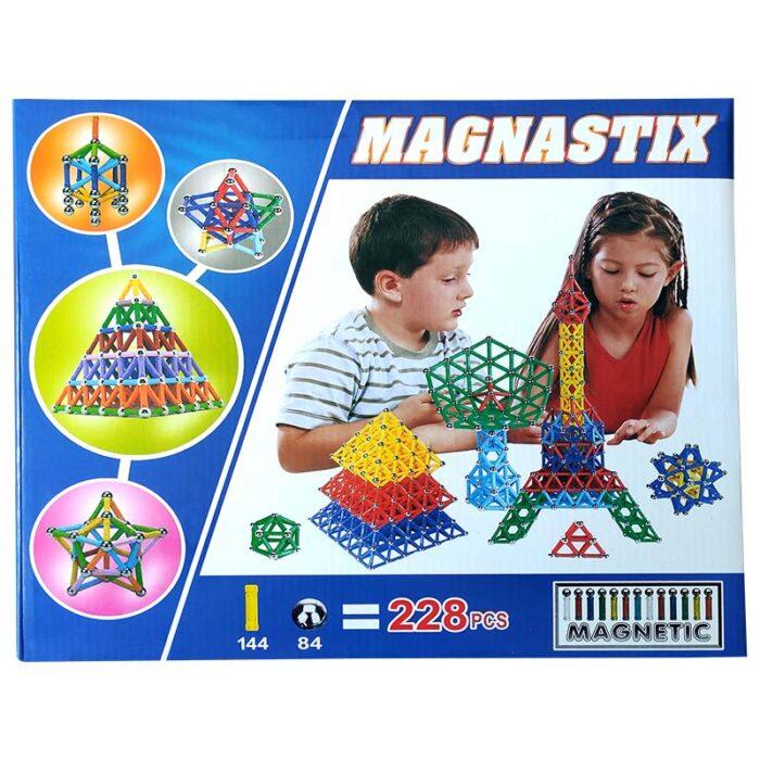 """Магнитен конструктор """"Magnastix"""" 228 части лице"""