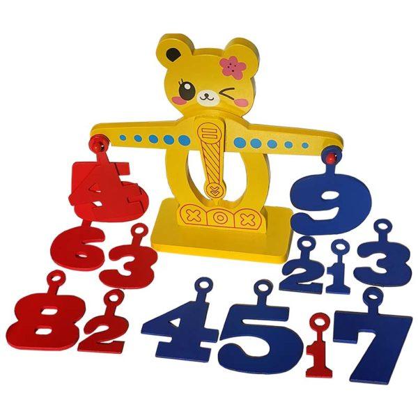 Математическа детска везна цифри